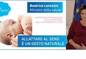 """Ministero della Salute lancia campagna pro allattamento """"Mamma che latte!"""""""
